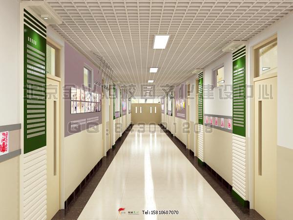学校大厅装修装饰效果图