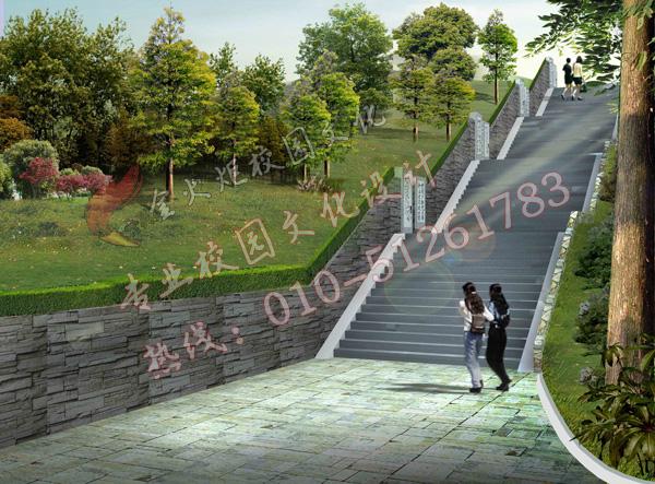 校园景观园林—校园文化设计—专业的校园文化建设图片