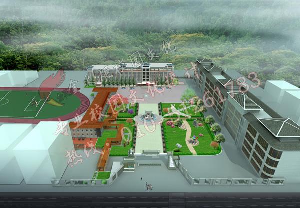 校园景墙设计 产品展示 校园景观园林 装修装饰效果图